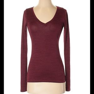 Abercrombie and Fitch V Neck Long Sleeve Tee